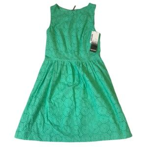 Kensie Dresses - NWT Kensie Green Eyelet Fit And Flare Dress Sz S